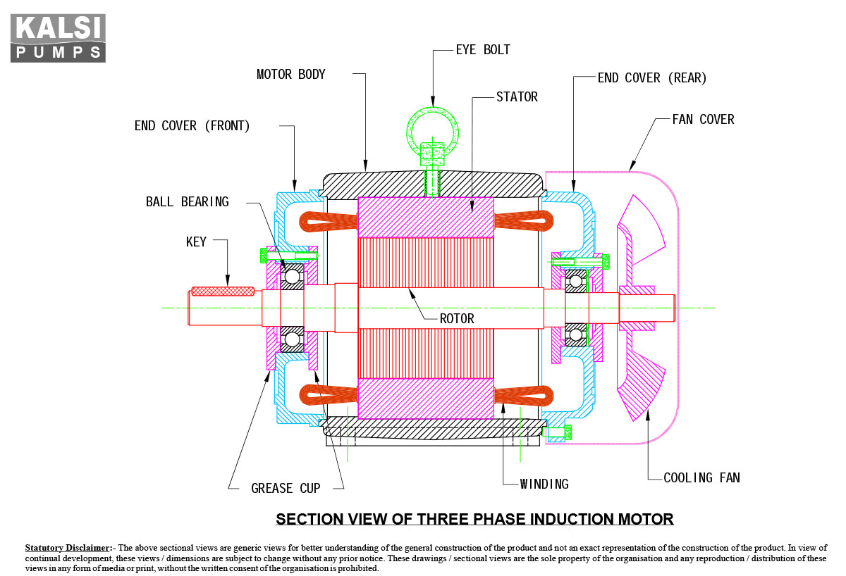 KALSI T.E.F.C. Squirrel Cage Three Phase Energy-efficient Induction Motors. '