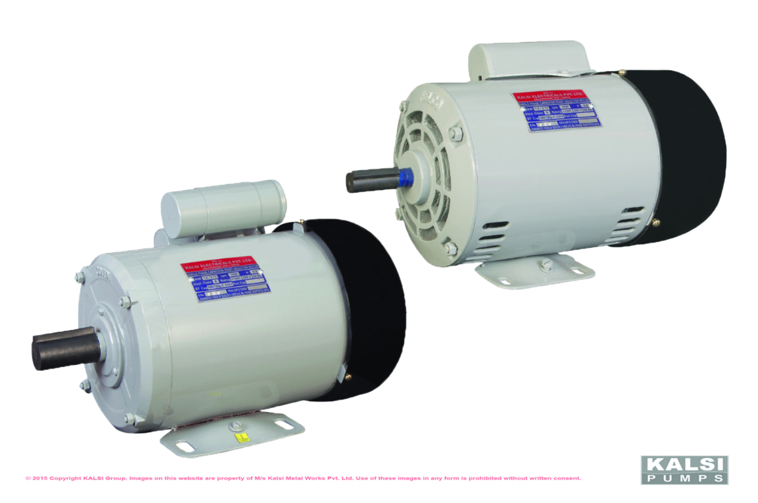 KALSI T.E.F.C. Squirrel Cage Single Phase Induction Motors